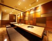 8名様用の個室のお席です。6名様用のお席とつなげれば18名まで対応できます。