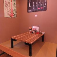 2名様×1席。和の雰囲気で落ち着いた空間でラーメンを食べるのも有!お子様や家族連れはこちらに是非お座りください!学生さんやサラリーマンの方も大歓迎!