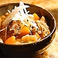 料理メニュー写真佐倉味噌の牛すじとモツの煮込み