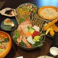 福井県産のお刺身からデザートまで、旬の食材を使ったメニューが豊富なお店。各種宴会やちょっとした集まりに最適な宴会コースは2500円~ご用意しております!ご家族連れや少人数での飲み会もご予約承り中です!
