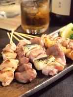 《鹿児島産銘柄豚使用の串焼き》