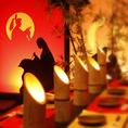 【竹取物語】の世界を再現した個室空間