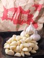 素材にこだわり!野菜はほとんど香川県産♪写真のにんにくは引田産で味も大きさも格別です。