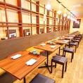【2名様テーブル席】お一人様やカップル、少人数でのご利用にオススメ☆引っ付けて6名席や8名席にも変更できます!