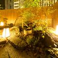 ◆インパクトのある和庭園がお客様をお出迎えいたします。薄暗い窓の外に浮かび上がる緑鮮やかな庭園はお客様だけのもの。はじめてでもどこか懐かしい、そんなお店造りを目指して。個性派揃いのお料理と、日常とかけ離れた個室空間を、心ゆくまでお愉しみ下さい。