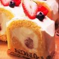 パティシエの手作りケーキが大人気。女子会利用時に人気の高いデザートメニューもご用意しております。至福のひと時をお楽しみください。