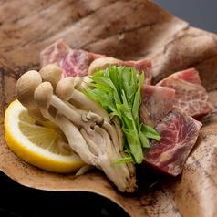 黒毛和牛と茸の朴葉味噌焼き