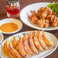 焼き餃子14個+唐揚げ5個