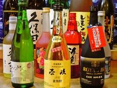 焼酎、日本酒等の種類が充実しております。