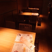 雰囲気自慢のテーブル席!