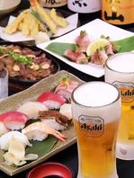 和食を堪能。寿司・天ぷらが食べ放題!