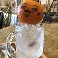 旬のオレンジを使用した「生絞りオレンジサワー」♪