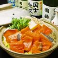 料理メニュー写真農水省郷土料理百選に選ばれたユックの石狩鍋…