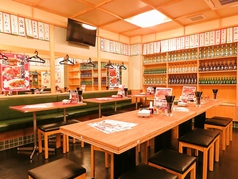 ビッグテーブル席は会社宴会や大人数でのご利用におススメ☆最大14名様までご対応可能です!