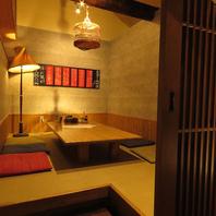 隠れ家のような空間。人気の個室です!