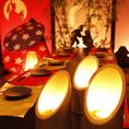 和の伝説を表現した個室。