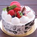 料理メニュー写真マンジェのアニバーサリーケーキ