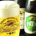 【平塚 飲み放題】仕事帰りのサク飲みにもピッタリ★生ビール付き全80種類以上のお酒が楽しめる単品飲み放題コースもご用意しております。もちろん宴会コースにはすべて2時間飲み放題付♪