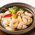 料理メニュー写真小海老と彩り野菜のアヒージョ