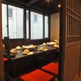 昼間は自然光も入る10名個室。昼宴会にも最適です。