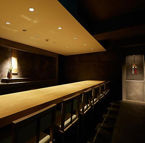 完全予約制の和モダンな空間。創意溢れる四季折々の京料理を心ゆくまでご堪能下さい。