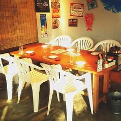 6名様迄ご利用頂けるテーブル席は、店内スクリーンにも近い特等席★スポーツ観戦しながら浜焼きを!!