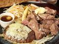 料理メニュー写真切落し300g&チーズハンバーグ
