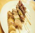 料理メニュー写真串物盛り合わせ(5本)