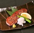 料理メニュー写真牛肉サイコロステーキ柚子胡椒&特製みそダレ/サーロインとししとうの黒こしょう焼き