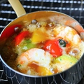 料理メニュー写真海老の香ばしアヒージョ