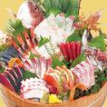 大漁盛り12種盛り 一人前1080円(税抜) 写真は4人前です。