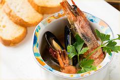 ヘレス風ハンバーグ/魚介のオーブン焼き
