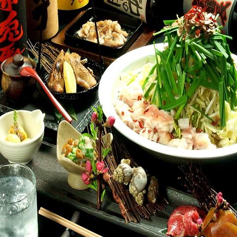 お洒落で落ち着いたゆったりとした空間の中で、もつ鍋を食べられる。焼酎が豊富。