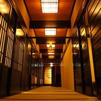 完全個室の癒し空間、全室内線電話設置
