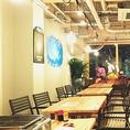 テーブル席をつなげれば大人数での宴会も可能です。各種宴会や二次会でのご利用などお気軽にお問合せ下さい。