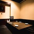 6~8名様向けのテーブル席。女子会や合コン、各種飲み会などグループでのご利用におすすめです。接待や会食など大切なお客様を迎えての宴席にもご利用いただけます。他にも2~4名・10~20名のお席もご用意しております。ぜひご利用ください。