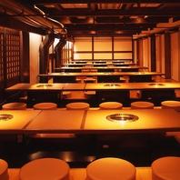 最大100名様OK★会社宴会にピッタリな掘り炬燵個室◎