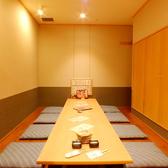 接待向けの完全個室は4名~12名様まで。