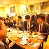 一列で10~20人が並んで座れるので、小規模から大規模なパーティにもお薦めです!