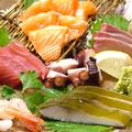 料理メニュー写真地魚刺身盛り合わせ
