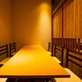 接待や会食などフォーマルな場でもご利用可能。喧騒を忘れさせる落ち着いた空間でのお食事はいかがでしょうか?当日の個室予約も承りますのでお気軽にお問い合わせくださいませ♪