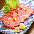 料理メニュー写真熊本県産霜降り馬刺し