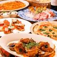 コース料理は大皿でわいわいと楽しめます♪