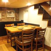 4名様のテーブル席★人数やシーンに合わせてご利用いただけます!アットホームなひとときを♪