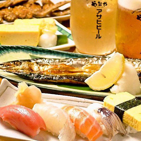 【料理のみ】お値打ち!や台ずしコース2500円(税抜)