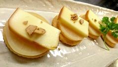 チーズ+たくあんスモークon the Ritz