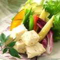 料理メニュー写真湯葉とお豆腐の京サラダ