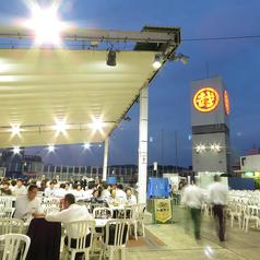 広島三越屋上ビアガーデン 漁庭の雰囲気1
