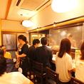 カウンターは全部で6席。注文された料理の調理を楽しめるのもカウンター席ならでは♪