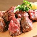 料理メニュー写真熟成肩ロースのステーキ